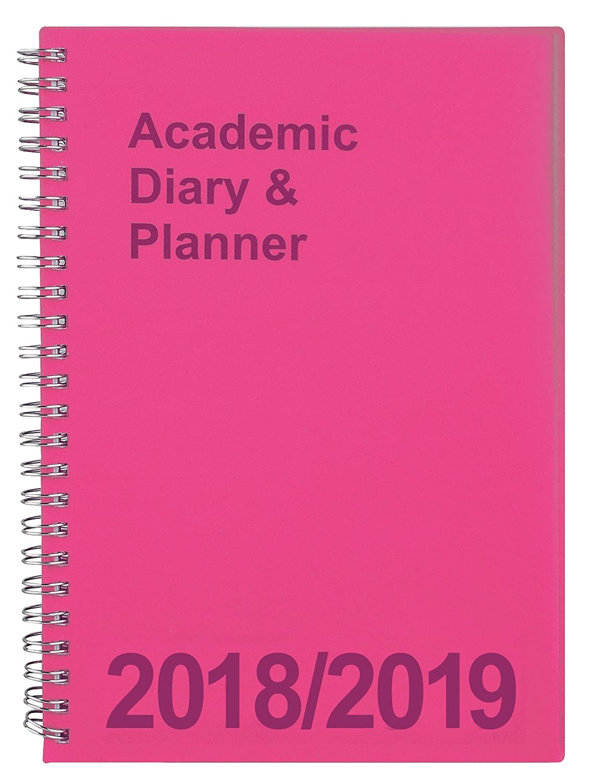 Agenda universitaria 2018/2019 formato A5, visualizzazione settimanale, rilegatura a spirale Pink Tiger Stationery