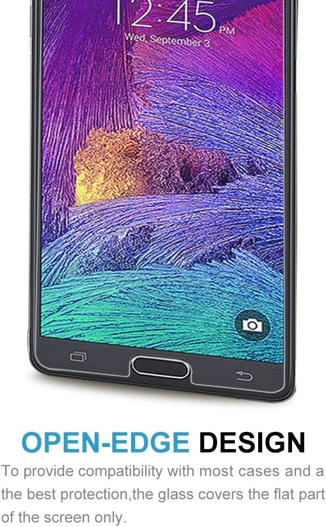 ScreenProtector YHM 100 PCS for Galaxy Note 4 0.26mm 9H Surface Hardness Explosion-Proof Non-Full Screen Tempered Glass Film