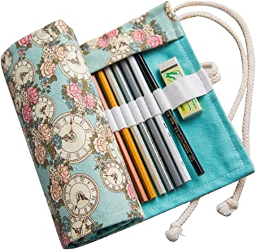 Estuche para lápices, iSpchen, Lienzo Enrollable, Bolsa de Almacenamiento de lápices de Colores, Estuche para Pintar, Estuche de Gran Capacidad para Dibujo artístico: Amazon.es: Belleza