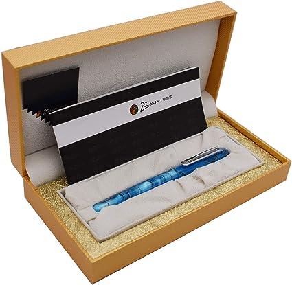 Picasso EtSandy Aurora 975 Estuche para estilográfica, Iridium Fina Pluma celuloide Vintage Plumas, Pluma de caligrafía, Plumas ejecutivas (cielo azul): Amazon.es: Oficina y papelería