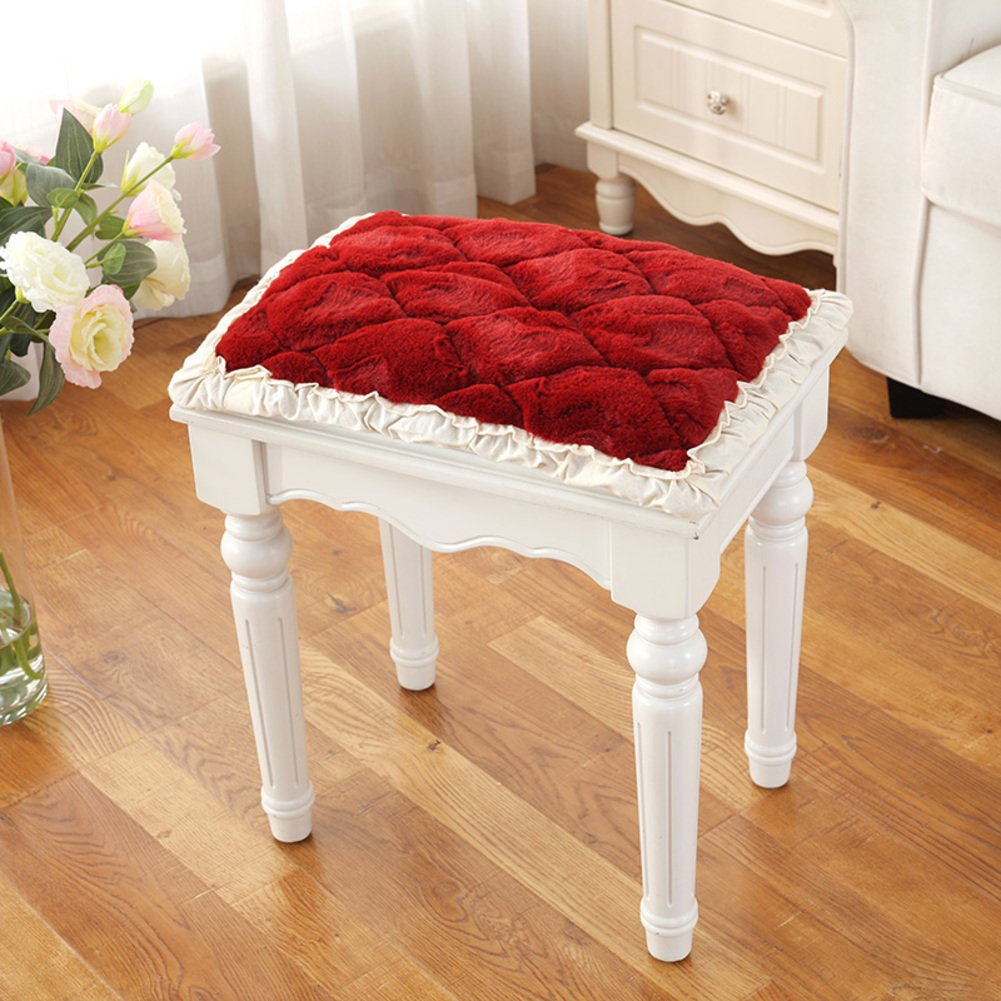 Cosmetic Stool Cover, Round Chair seat Cushioning, Piano Stool Cover Simple European Style Fabrics Princess lace Chair Cushion Cosmetic Stool mat-A 25x35cm(10x14inch) EFDFHSGSDGSD