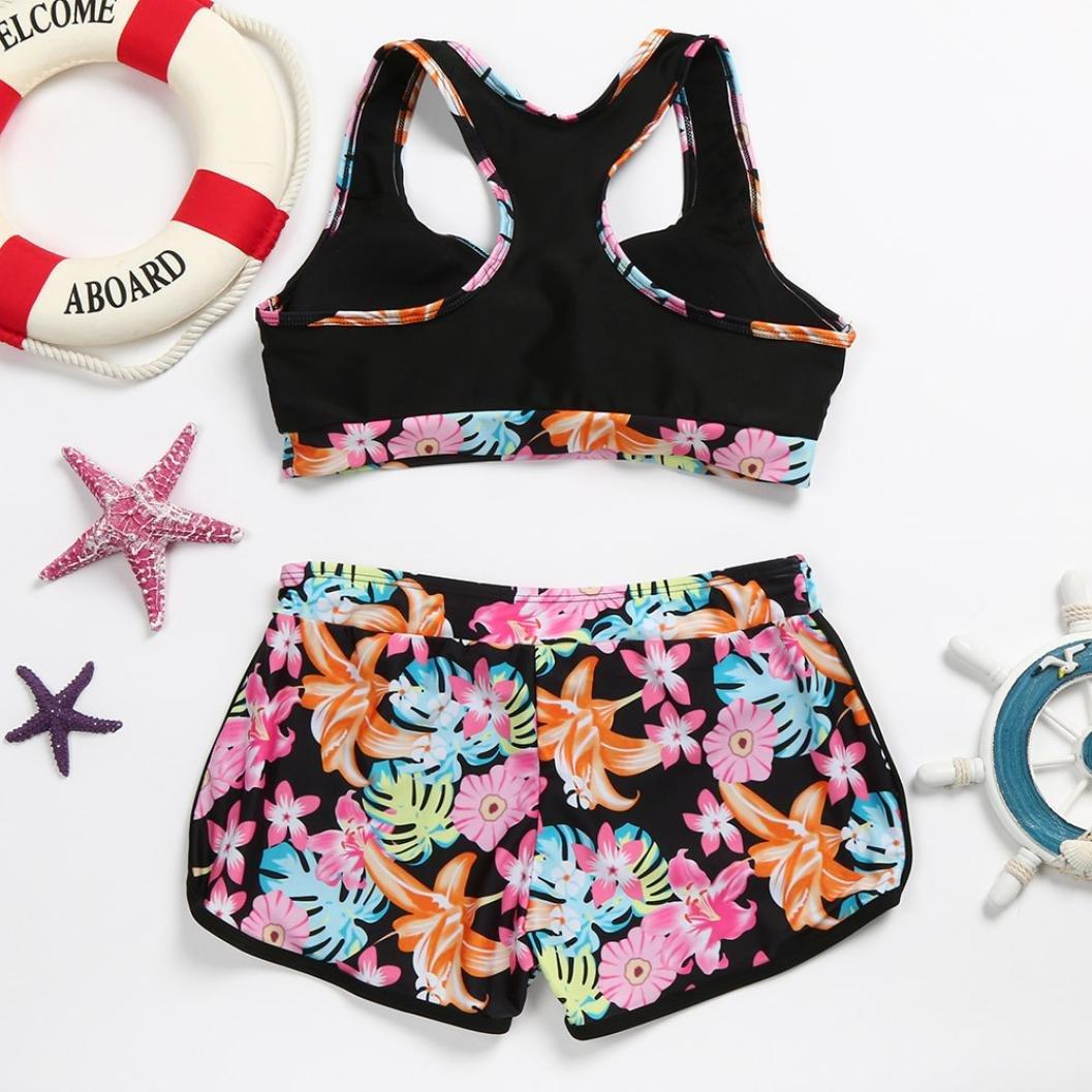a909cc6b1b7 Amazon.com: Fheaven Womens Girls Vest Tops Padded Swimsuit Shorts Swim  Trunks Set (M, Pink): Beauty
