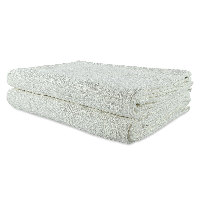 Shop Bedding Ordu Essentials Hospital Thermal Blankets, Open Weave Snag Free 100% Cotton Blanket, 66'' X 90'', White