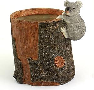 Top Collection 4.75-Inch Miniature Fairy Garden and Terrarium Koala Bear Functional Flower Pot for Succulents, Mini