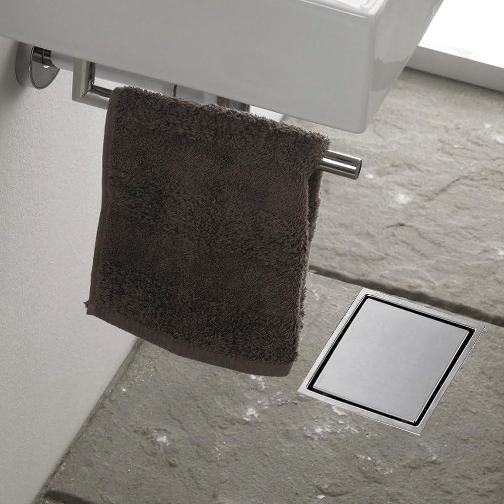 HOMELODY Caniveau de Douche Italienne Siphon de Sol Carr/é 150 150mm Invisible Cl/é dOuverture Offerte Evacuateur deau Jardin Douche Cuisine