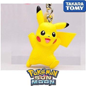 Pokemon Sole y Luna Llavero Pikachu 3D Takara Tomy 4 cm ...