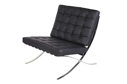 Attrayant WOYBR WM8742354152 Barcelona Style Modern Pavilion Chair With Stainless  Steel Frame, Black