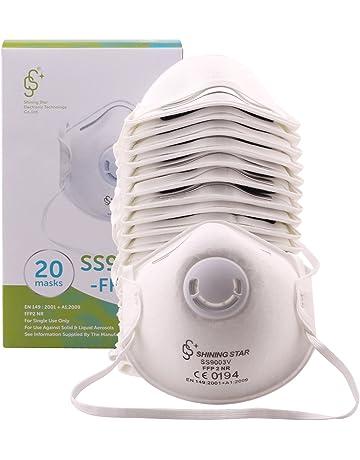 20 x Máscara respiratoria con válvula mascarillas protectora FFP2 CE EN149 contra la contaminación PM2.
