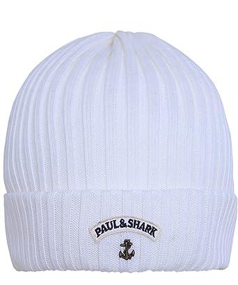cef87119 Paul & Shark White Beanie 1SZE: Amazon.co.uk: Clothing