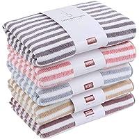 AKASKARI2019新品 浴巾 超细纤维 酒店规格 大号 5色5条装 吸水速干 蓬松 亲肤抗菌防臭