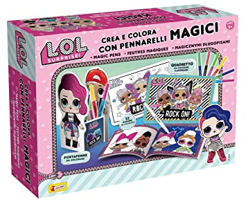 Lisciani Giochi Lol Surprise Crea E Colora Con Pennarelli Magici