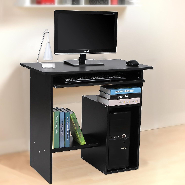 songmics per computer scrivania ufficio porta pc tavolo lcd852b ... - Scrivania Con Computer