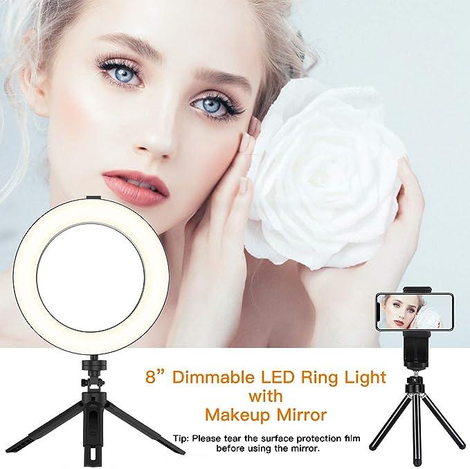 Bestope Led Ringlicht 8 Led Ringleuchte Make Up Licht Kamera