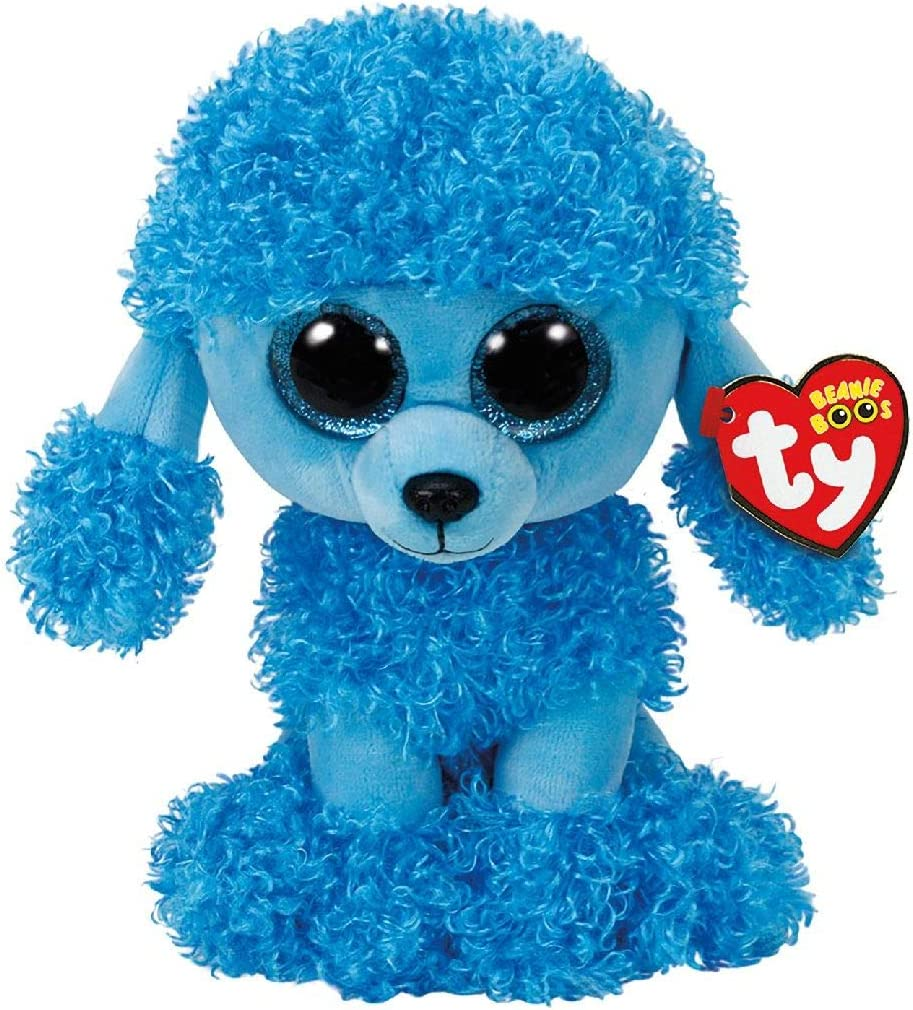 TY- Beanie Boo's Mandy Poodle, caniche, Color azul, 23 cm (United Labels Ibérica 37263TY) , color/modelo surtido