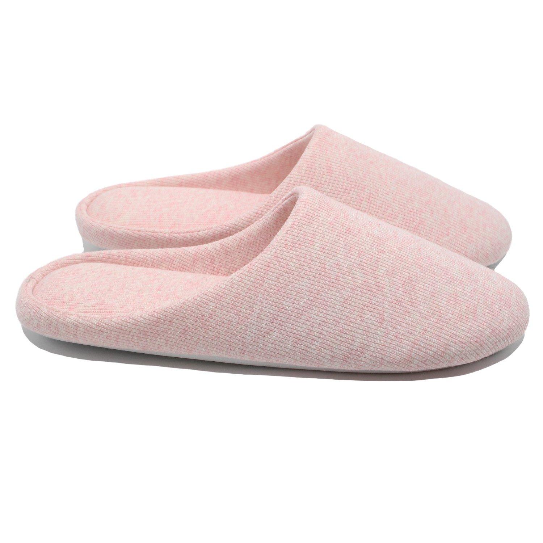 Ofoot Women's Cotton Memory Foam Washable Anti-Slip Indoor Slippers
