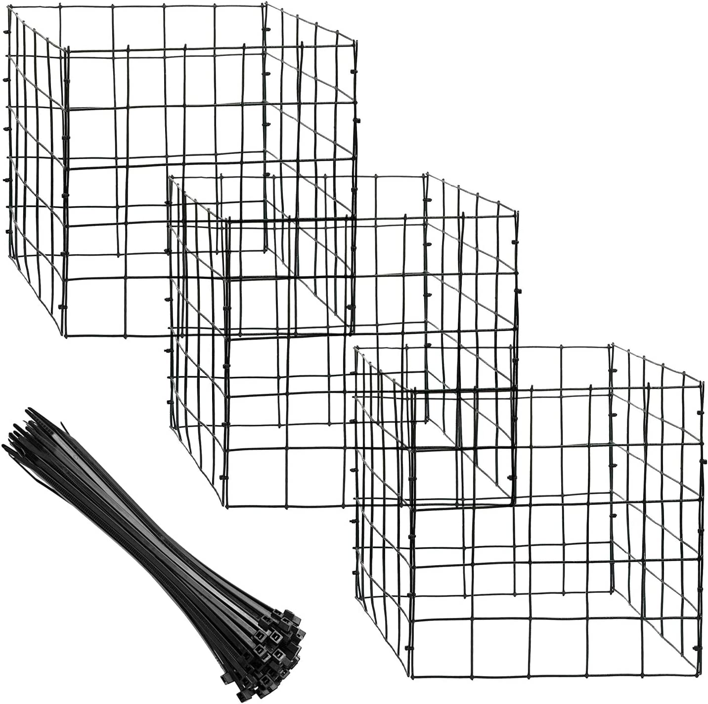 """12 Sheet Small Wire Plant Protectors with Nylon tie 12"""" Garden Wire Plant Mesh Protectors Supports for Plants, Vegetables and Shrubs (12)"""