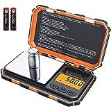 ORIA Digital Mini báscula, 200 g/0.01 g balanza de bolsillo, 50 g de peso de calibración, Escala de bolsillo, 6 unidades…