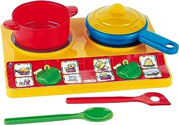 Theo Klein-9170 Emmas kitchen juego de placas de hornillo eléctricas, juguete, Multicolor (9170)