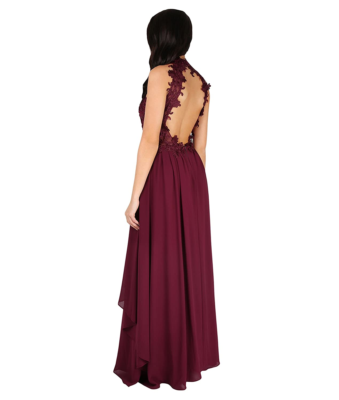 Amazon.com: Krisp Formal de la mujer elegante encaje cuello ...