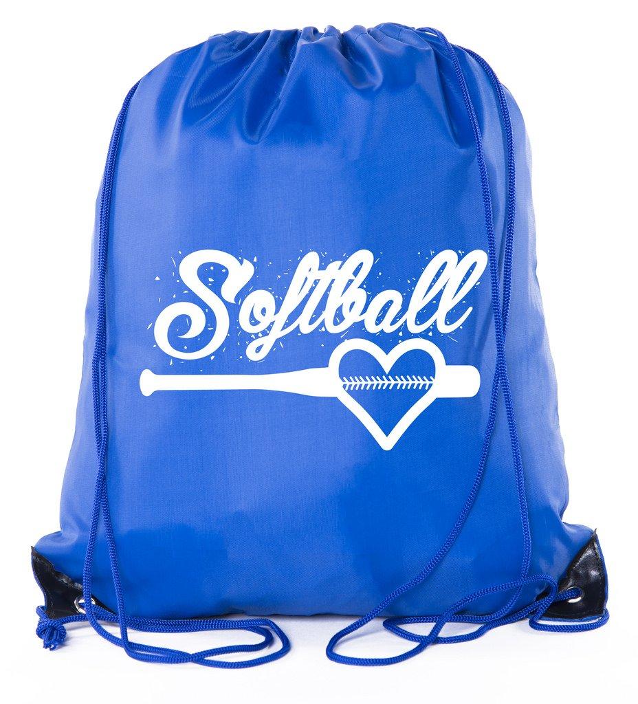 Mato & Hash Ladies Softball Drawstring Bags with 3,6, and 10 Pack Bulk options - 10PK Royal CA2500Softball S1