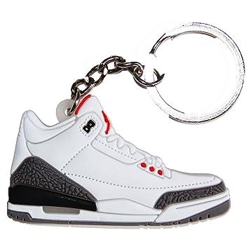 best service 0748c 731fb Nike Jordan 3 III Cool Grey 2D Flat Sneaker Keychain ...
