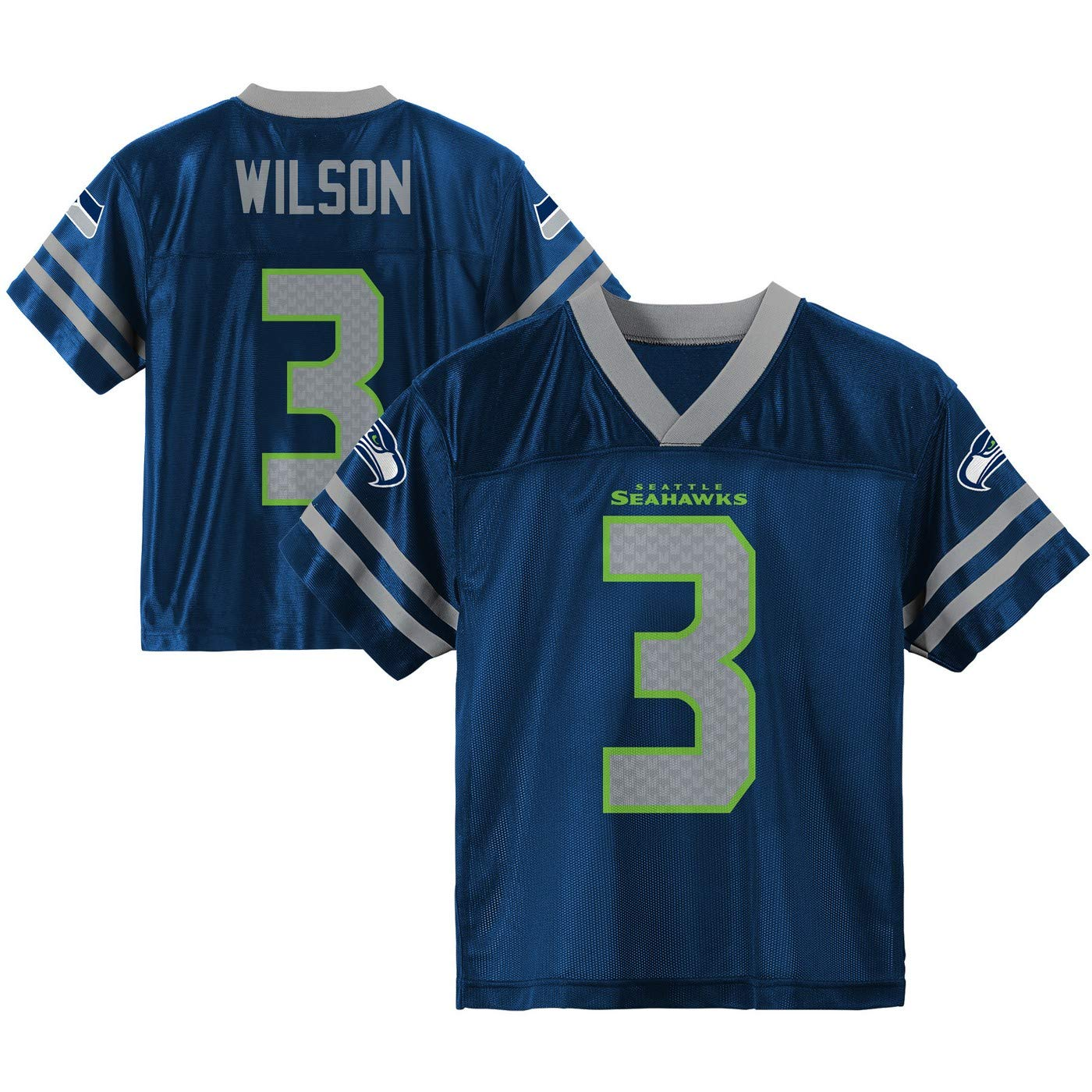 cf7947bf6 Amazon.com   Outerstuff Russell Wilson Seattle Seahawks  3 Navy Blue Youth  Home Player Jersey   Sports   Outdoors