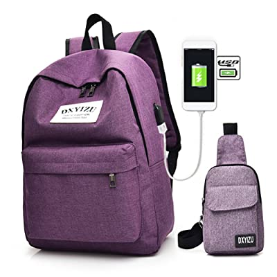 delicate Bestmemories Laptop Desktop Bag Fashionable Travel Canvas Luggage Bagpack Bag Backpack Computer Bag for Men Women (Backpack, Purple)