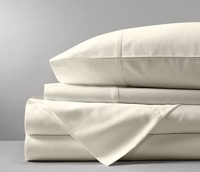 Bamboo Tranquility Supreme Quality Bamboo Pillowcase Set 100% Viscose Rayon - Hypoallergenic (Queen Pillowcase, Ivory)