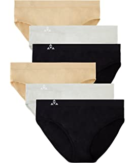 94c45bc982a5 Balanced Tech Women's 6 Pack Seamless Hipster Brief Bikini Panties