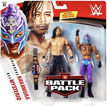 Rey Mysterio & Shinsuke Nakamura WWE Battle Pack Figura Básica Lucha Libre Mattel Serie 62: Amazon.es: Juguetes y juegos