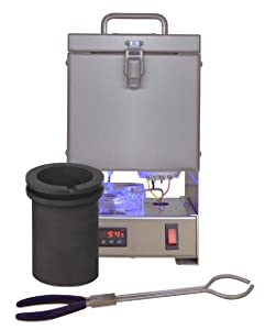 Tabletop QuikMelt 120 oz PRO-120-4 KG Melting Furnace - Stainless Steel Kiln Jewelry Making Metal Melting Casting Enameling Glass Fusing Precious Metal Clay Kiln Made in USA
