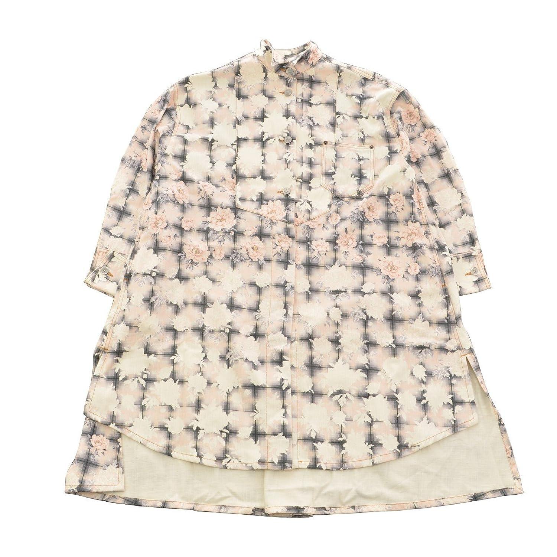 (マルタンマルジェラ) MARTIN MARGIELA 6 18SS MM6 Oversized Shirt Jacket オーバーサイズシャツジャケットワンピース フローラル コート B07F11ZK8Q  -