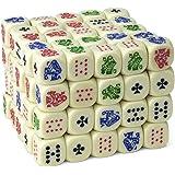 Brybelly Bulk Block of 100 Poker Dice, Great for Travel