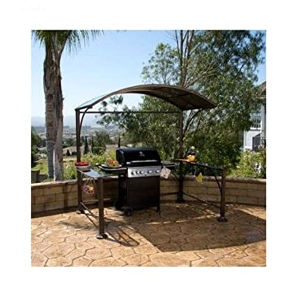 This Hard Top Gazebo Structure Is Ideal For Providing All Weather Coverage  To Your Outdoor Grill Or Small Seating Area And Features Integrated  Shelving On ...
