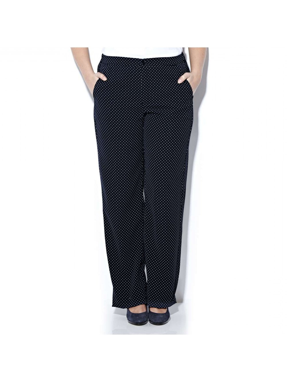 Marina Rinaldi Women's Ronda Polka Dot Dress Pants 16W/25 Navy