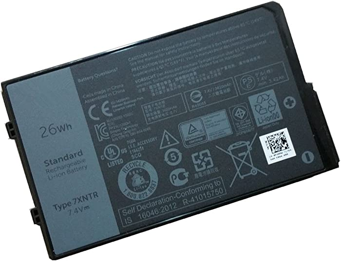 HWW New 7.4V 26Wh 7XNTR FH8RW Battery Replacement for Dell Latitude 12 7202 Rugged Tablet