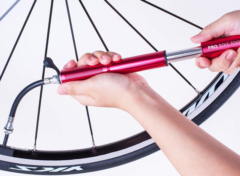 Bomba de bicicleta de carretera por Pro Bike Herramienta - Alta presión - 120 PSI - fiable, compacto y ligero, para Presta y Schrader - Calidad superior ...