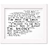 The Clash Poster Print Lyrics Gift Signed Art London Calling
