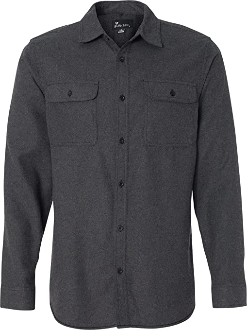 Men's Vintage Style Hats Burnside Mens Long Sleeve Solid Flannel Button Down Shirt B8200 $36.34 AT vintagedancer.com