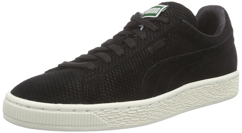 Puma Suede Classic + Mod Heritage Unisex-Erwachsene Sneakers  42 EU Schwarz (Black-whisper White 02)