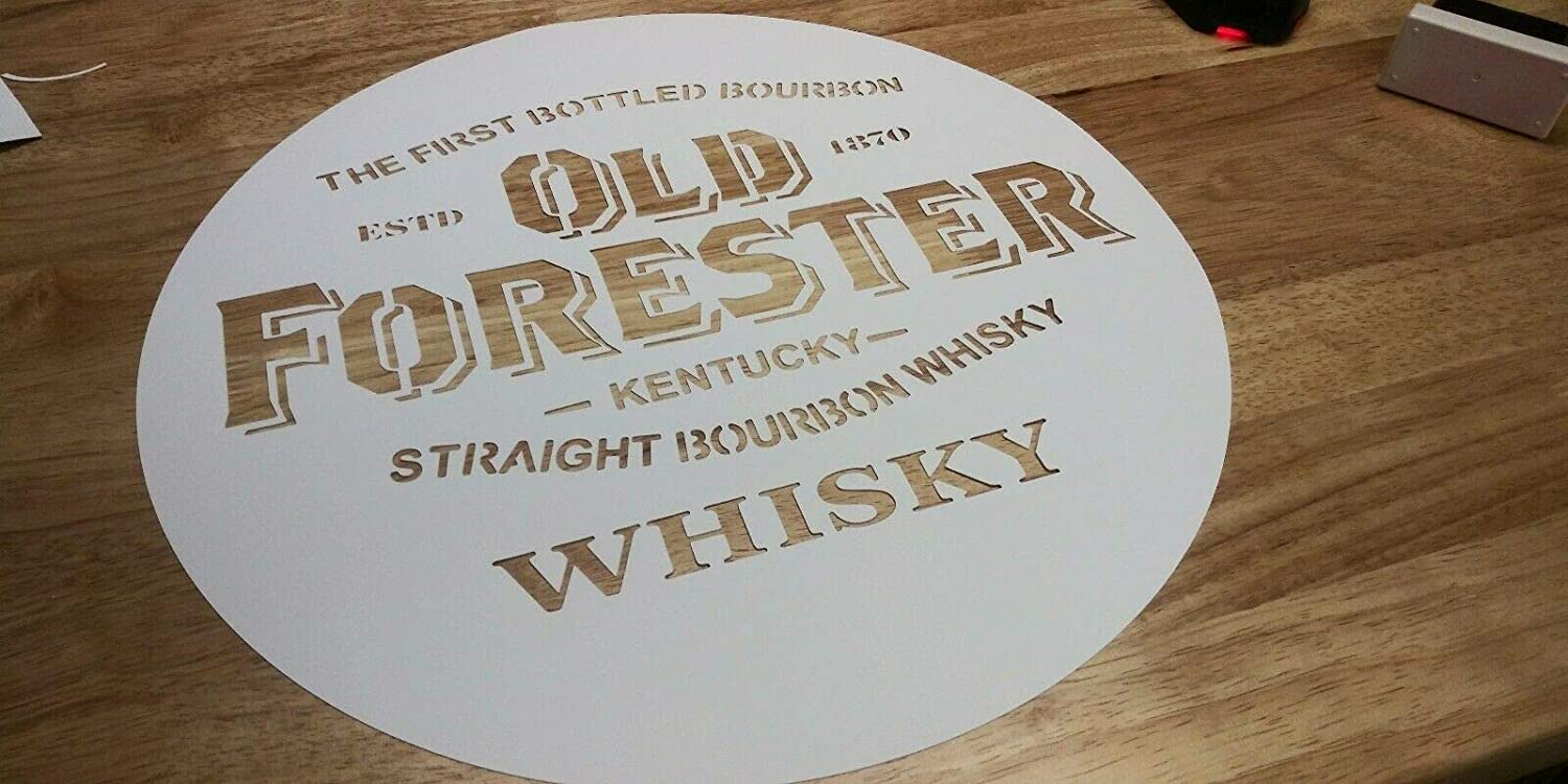 16 22 you pick size reusable. 19 Whiskey Airbrush Stencil OLD FORESTER for barrel lid painting 13