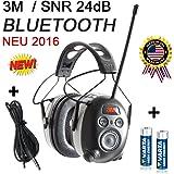 3M Casque de protection auditive anti-bruit SNR 24db avec réception radio numérique Bluetooth