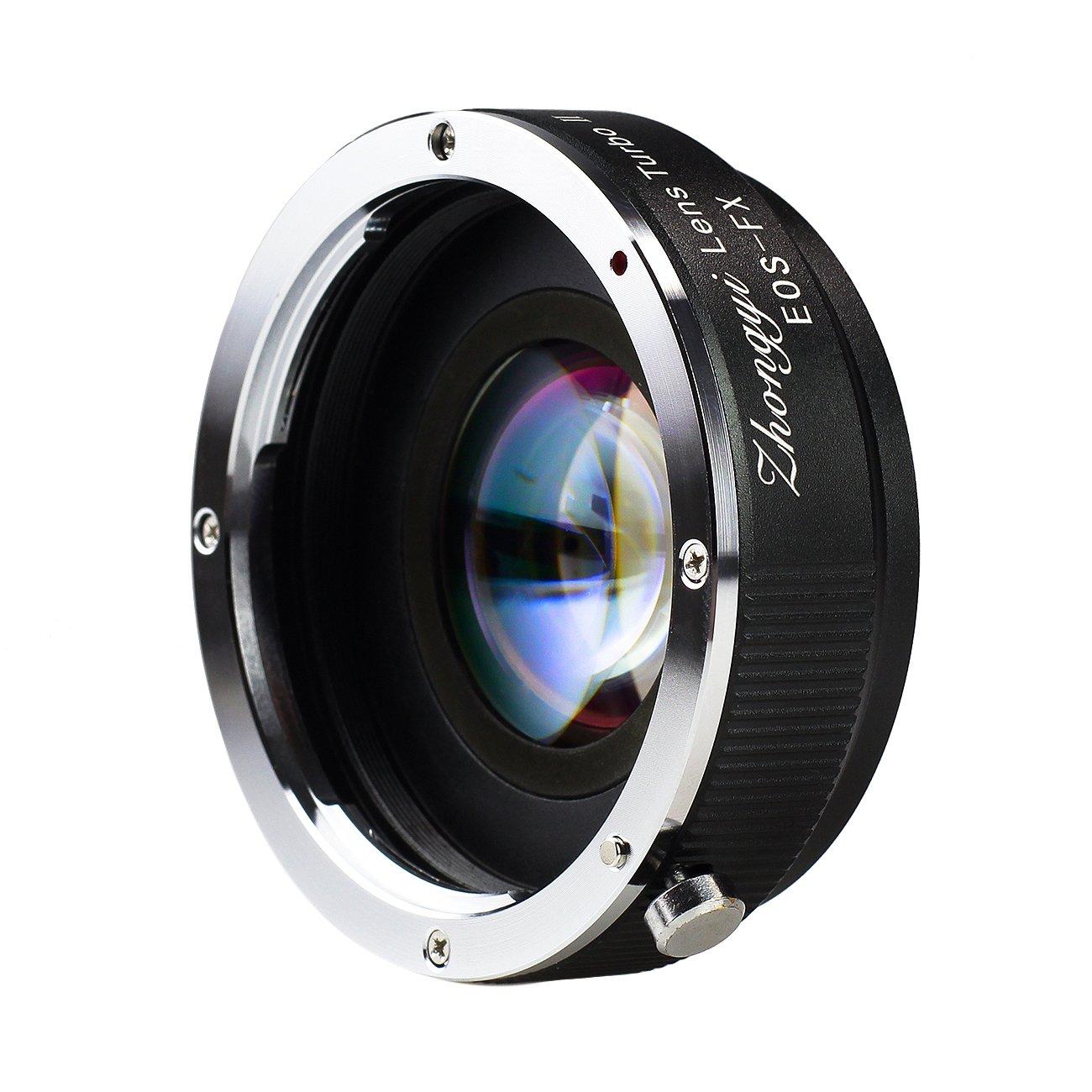 Zhongyi Adaptador de lentes de Turbo II para la lente de la cámara Canon EF Fuji FX como Fuji Pro1 X-E1 X-E2 X-M1-A2 A1-X X-T1: Amazon.es: Electrónica