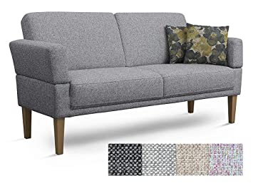 CAVADORE 3er Sofa Femarn/Küchensofa für Küche, Esszimmer/Couch für ...
