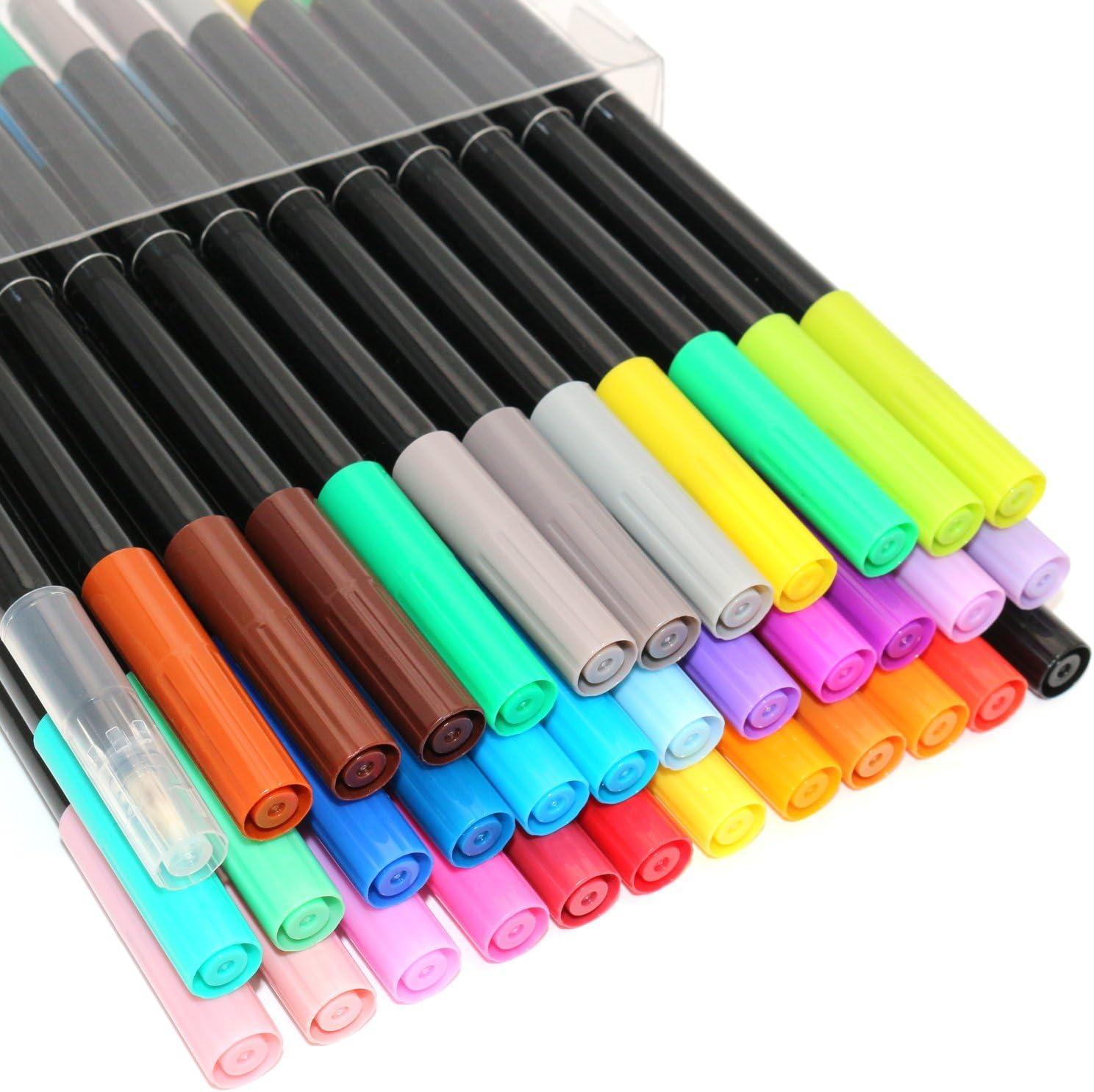 - Amazon.com : Dual Tip Watercolor Art Markers Brush Pen - 100% Acid