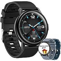 1.3 Pulgadas Reloj Deportivo Inteligente,pulsera Deportiva Bluetooth Ip68,Reloj Inteligente con Oxígeno Sanguíneo…