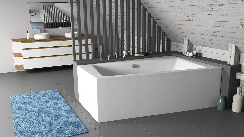 Pareo Bathtub 150 X 90 Cm 160 X 100 Cm 170 X 110 Cm Side Left Right With Skirt Drain Fitting Amazon De Baumarkt