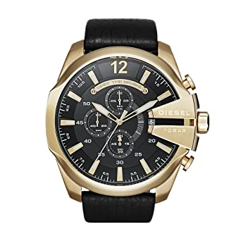 466599223aa6 Buy DieseI Mega Chief Analog Black Dial Men s Watch - DZ4344 Online at Low  Prices in India - Amazon.in