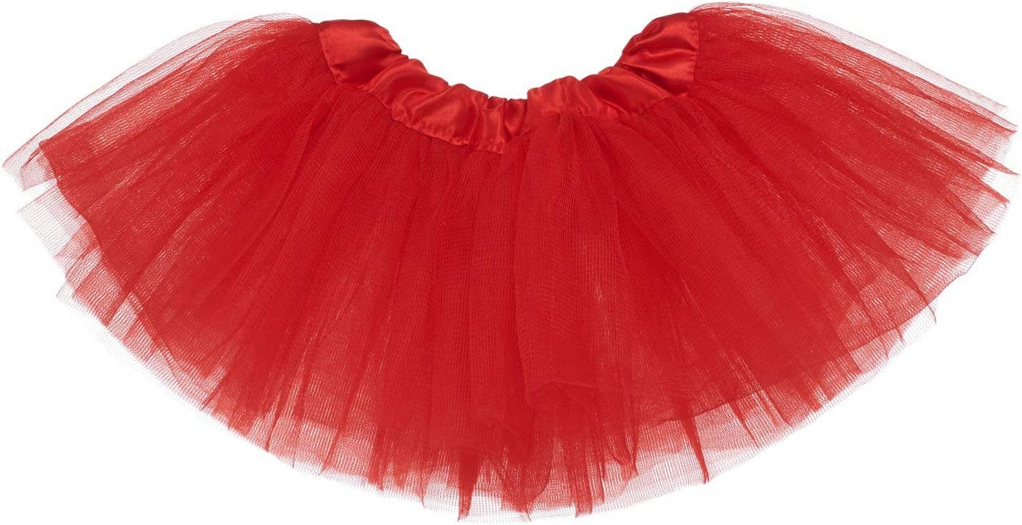 Reciy Womens Adult Sparkle Elastic 3 Layered Tulle Tutu Skirt