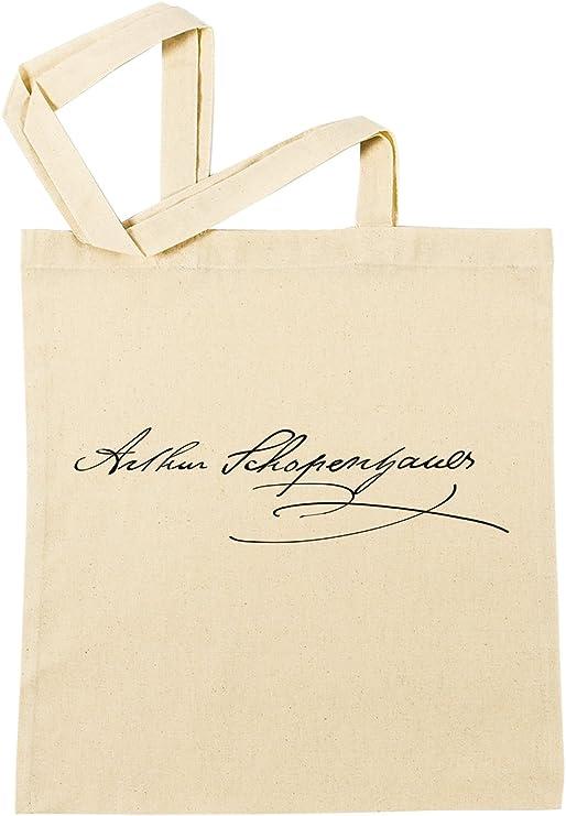 Arturo Schopenhauer Firma Bolsa De Compras Playa De Algodón ...